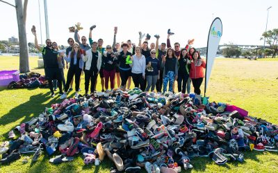 Mountain of shoes will put 1750 smiles to families in need across Australia